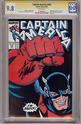 Captain America #354 CGC 9.8 SS Signed by Stan Lee! 1st appearance of U.S. Agen