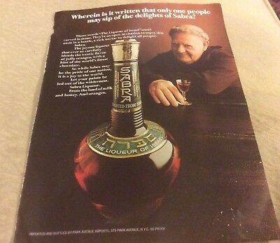 1973 Print Ad For Sabra The Liqueur Of Israel