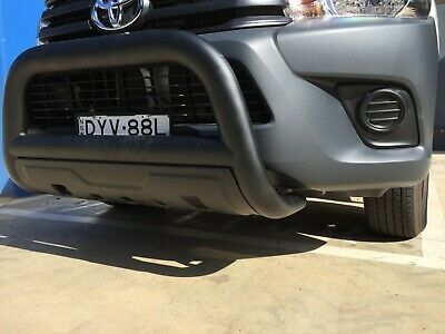 Toyota Hilux Nudge Bar BLACK with bash plate 2015 TO Current TOYOTA NUDGE SR5