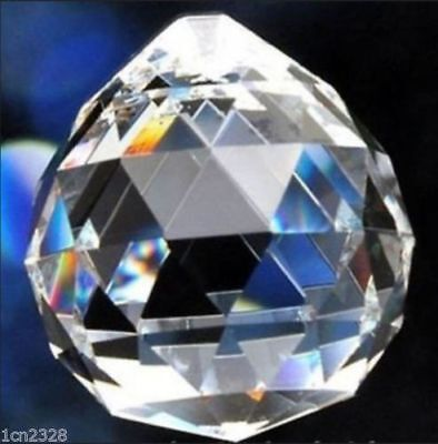 30mm Clear Chandelier Glass Crystal Lamp Prisms Parts Hanging Drops Pendant MO