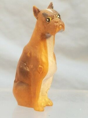 Lot of 2 Puppy Dog Figurines Sitting & Standing Brown Dachshund Wiener Dogs