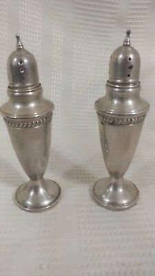 Sterling Silver Hamilton Weighted Salt and Pepper Shakers