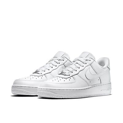 28f6932c1e2d3 Nike Womens Wmns Air Force 1 07 Low Whiteout Classic Triple White AF1 315115 -112