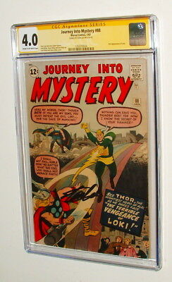 1963 Journey Into Mystery 88 Comic Book Signed Stan Lee Signature Series Cgc 4.0