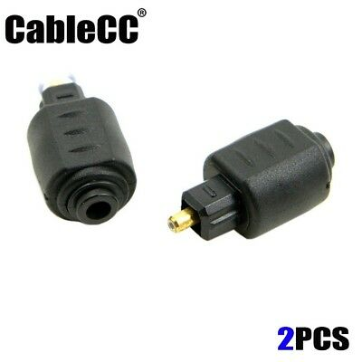 Cablecc Optical Toslink Male to Mini 3.5mm Toslink Female Audio Adapter 2pcs/lot