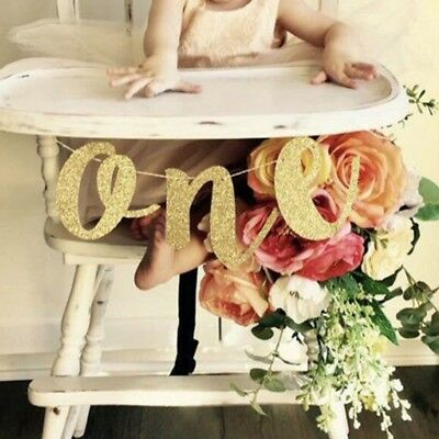 One Banner Girl Boy 1st Birthday High Chair Baby Shower Party Decor