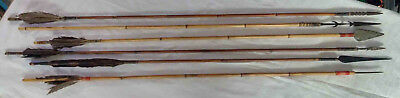 Antique 1900's African Tribal Arrows Spears
