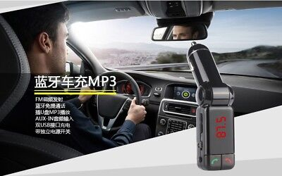 Mobile Charger Bluetooth Car FM Transmitter AUX Radio KFZ Adapter Dual USB