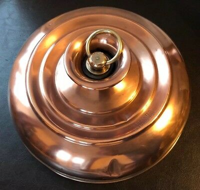 Vintage Copper Hot Water Bottle With Brass Knob