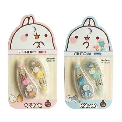 2pcs Correction Tape Decorative Cute Molang School Office Supply Stationery