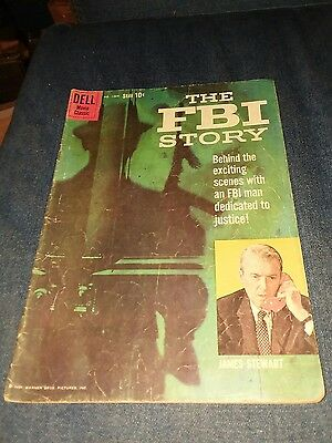 Four Color #1069 The fbi story photo cover james stewart vg 4.0 movie jimmy