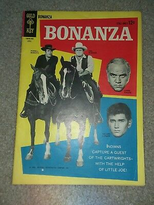 Bonanza 7 vg Photo cover gold key Comics Silver age TV show vintage western 1964