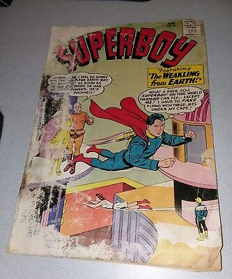 Superboy #81 DC Comics Silver Age 1960 lot toy set smallville tv show collection