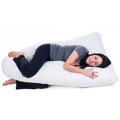 Pregnancy Pillow Full Body Maternity Belly Cushion w/ Contoured U-Shape Support