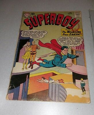 Superboy #81 DC Comics Silver Age 1960 lot run set smallville tv show collection