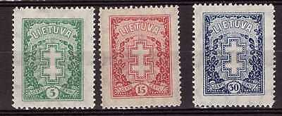 "Lithuania 1929 - Definitive issue ""Vytis"" Warriors Cross (II) Mi. 288-290 MH"