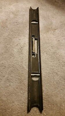 Vintage Stanley No. 36 24 Inch Cast Iron Masons Level Tool , 3-Bubble
