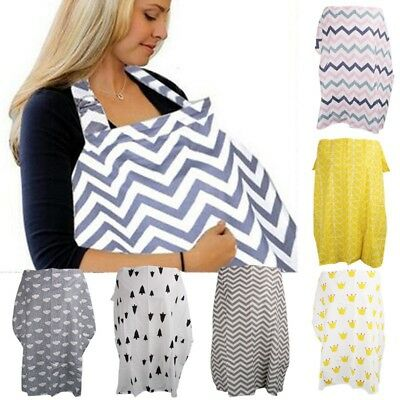 Nursing Breastfeeding Cover Scarf Baby Car Seat Canopy Infinit y Stretchy Shawl