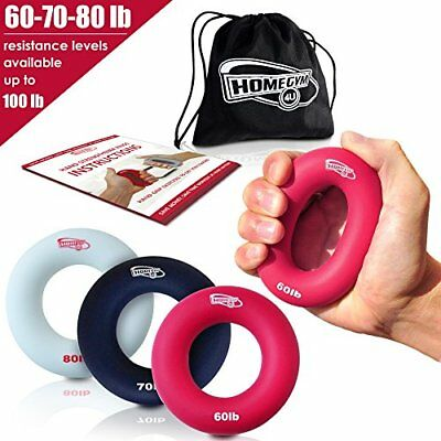 ❤ Set Of 3 Gym Fitness Strength Training Hand Grip By Iron Crush A Hand /& Forear