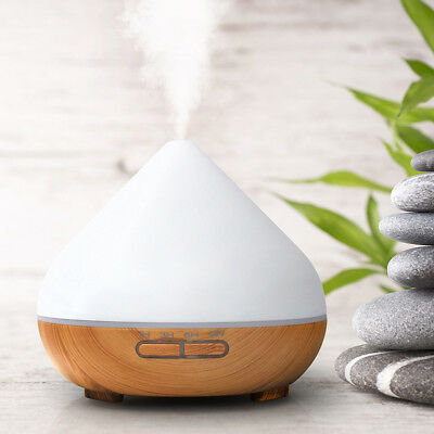Essential Oil Diffuser 300ml Ultrasonic Aroma Diffuser Cool Mist Humidifier 7LED