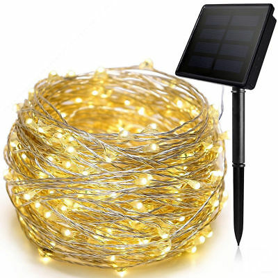 200 LED Solar Power Fairy Lights String Lamps Party Xmas Decor Garden Outdoor HB
