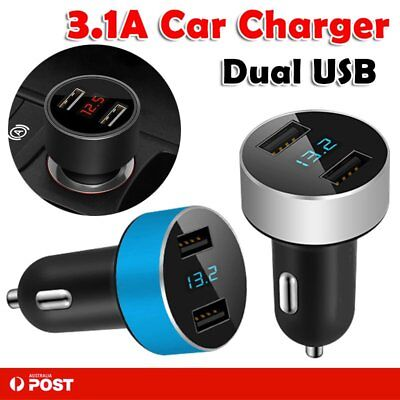 Dual USB Car Charger 5V/3.1A Quick Charge For IPhone X 8Plus Samsung S8 S9 Note