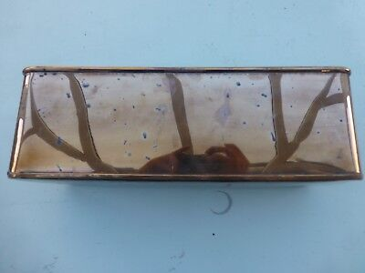 Vintage Copper Planter with Brass Lion Face Handles