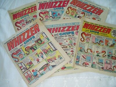 6 x WHIZZER and CHIPS COMICS...(1969-1970).....free postage
