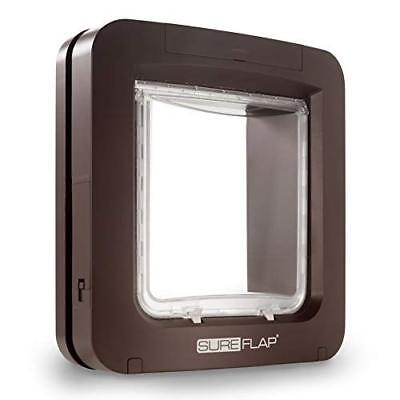 SureFlap Cat Flap with Microchip Identification, 28.1 x 26.2 cm, Brown
