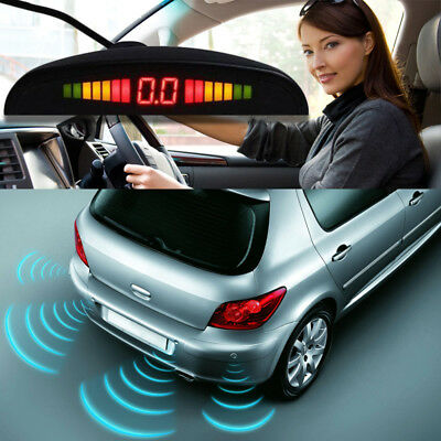 Sensores De Aparcamiento Kit De 4 Sensor Radar Con Y Pantalla Led Parking