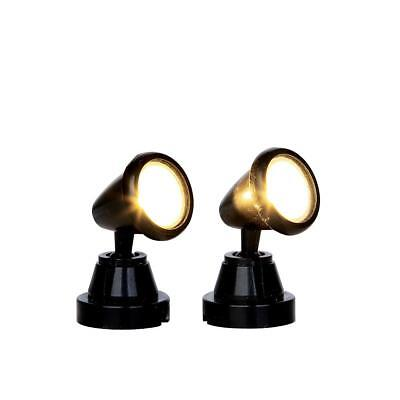 New Lemax Village Collection Round Spot Light Set Of 2 - #44756