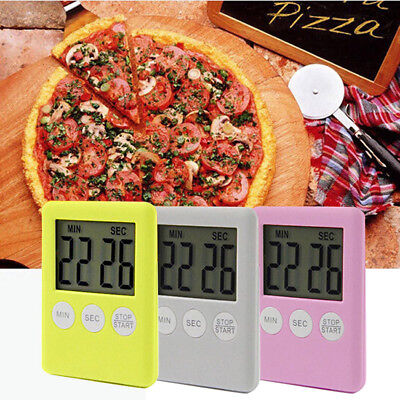 3Button Digital 1.8''LCD Kitchen Cooking Timer Count-DownUp Clock Alarm Magnetic