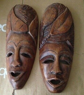 Hand Carved Wooden Mask - Haiti