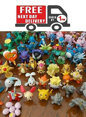 72 Pcs Pokemon Mini Figures All Different No Duplicates, Uk Seller, Express Ship