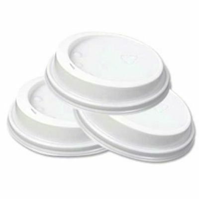 100 White 12/16oz Sip Lid for Kraft Ripple cup , FREE EXPRESS DELIVERY FROM UK