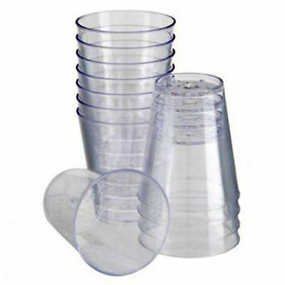 New Disposable Plastic Clear 2Cl Shot Jelly Glasses Tumblers Party Brand New Uk