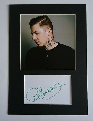 Professor Green signed  12x8 card display AFTAL PROOF
