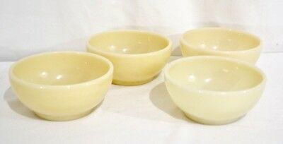 Vintage Fire King IVORY  Chili Bowls Restaurant Oven Ware Set of 4 EXC Condition