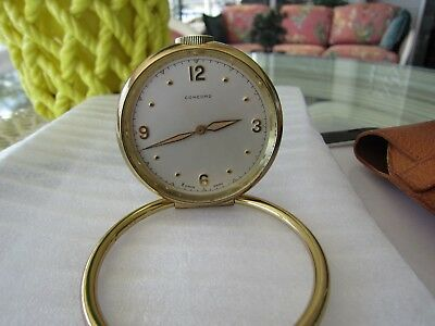 Vintage Concord Travel 8 Day 15 Jewels Clock with Case