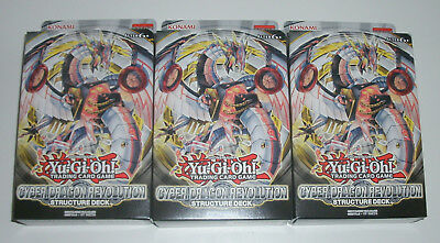 Yu-Gi-Oh - 3x Structure Deck Cyber Dragon Revolution - NEU & OVP - Deutsch