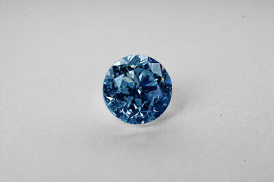 Lose natürliche(clarity enhanced) Diamant Rund 0.22 Ct SI1/Blau
