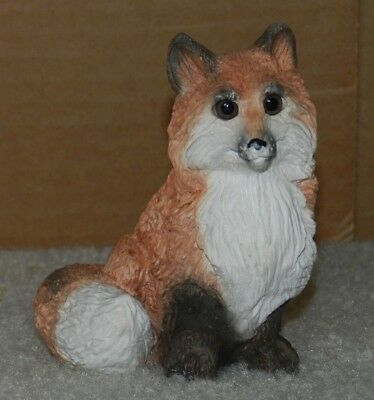 Stone Critters Lighter Red Sitting FOX Stonecritters SC-061 United Design