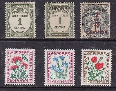 ANDORRA ( French ) ^^^^^^BACK O  BOOK  x6  mint hinge d $$@ cam1915and