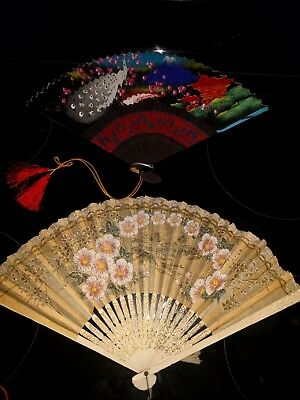 Pair of Folding Hand Fans