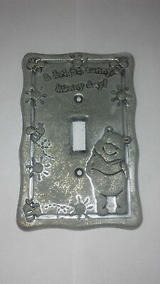 Vintage Winnie the Pooh Lightswitch Plate Wall Cover