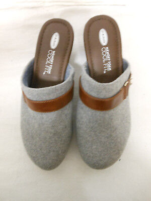 Dr. Scholl's SIZE 8.5 Women's Light Grey Jessa Memory Foam Mule Clog Shoes