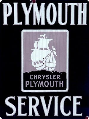 """Plymouth Service 9"""" x 12"""" Sign"""