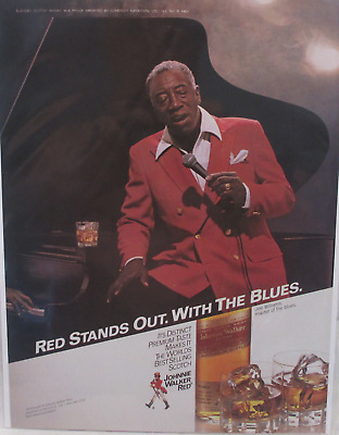 1984 Print Ad Johnnie Walker Red Label Whisky ~ Joe Williams Master of the BLUES