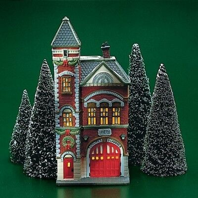 DEPARTMENT 56 Heritage Village Christmas In The City RED BRICK FIRE STATION 5536
