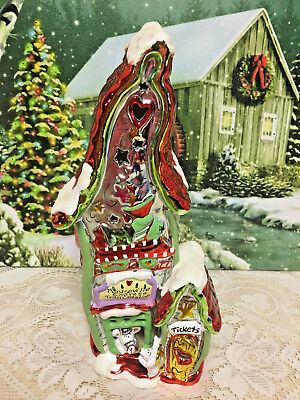 Blue Sky Clayworks Heather Goldminc Christmas Train Station Mouseville Express